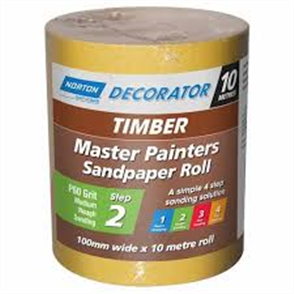 SANDPAPER ROLL P120 100mm x 10m